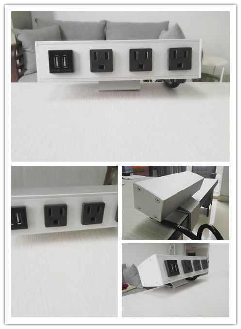 Desk Mounted Power Sockets With 3 Outlets And 2 USB Ports For Laptop Mobile Phone