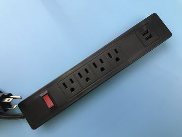 Desktop PA66 Multiple Outlet Power Bar For Office